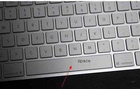 键盘上space键在哪里